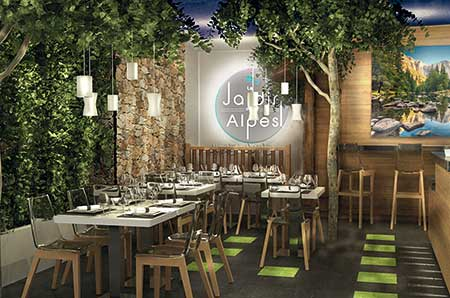 Restaurant val d 39 is re dans le jardin des alpes for Restaurant avec jardin paris