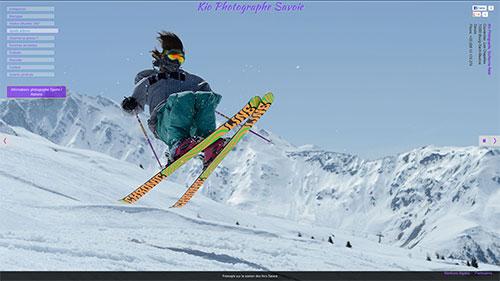 Snowpark de la station de ski des Arcs en Savoie